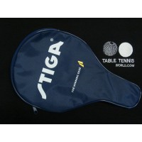 "Stiga  ""Junior/Penholder  Bat ""Logo Bat Cover - Single with ball holder"