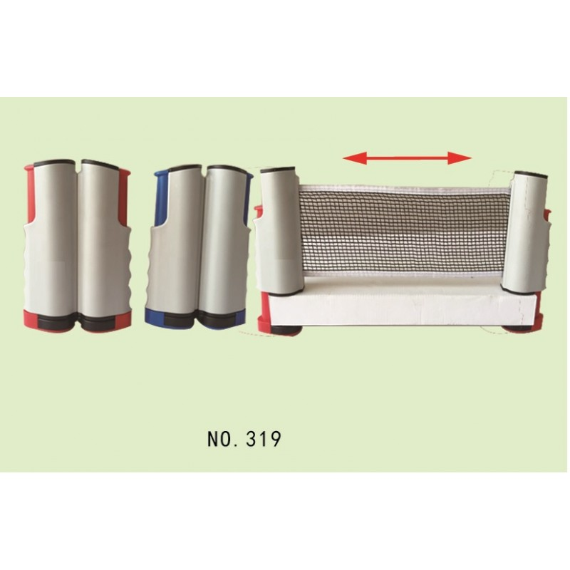 Net and post sets retractable plastic table tennis net for Table retractable