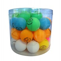 Table Tennis World 36 x Mulit Colour Balls . Celluliod
