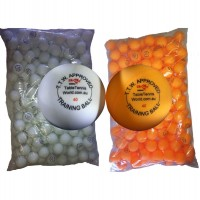 Table Tennis Balls 144 x Balls , White / Orange