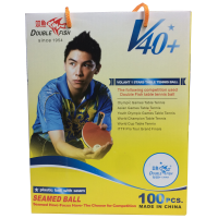 Double Fish V40+ 1 Star Table Tennis Balls - Box of 100