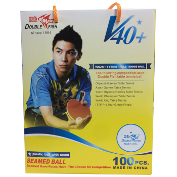 Double Fish V40+ 1 Star Table Tennis Balls - Box of 100