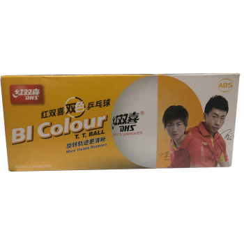 Double Happiness D40+ Bi Colour Table Tennis Ball (Pack of 10)
