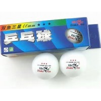 Double Fish  Celluliod 3 star  Pkt 3 . Olympic Competition Table Tennis Balls