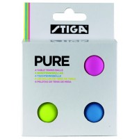 Stiga Pure Table Tennis Balls Pkt 4